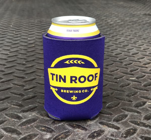 Purple Logo Koozie Tin Roof