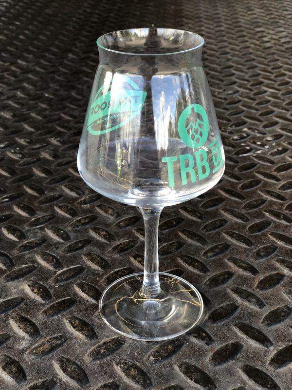 Teku Glass With Green Logo Tin Roof